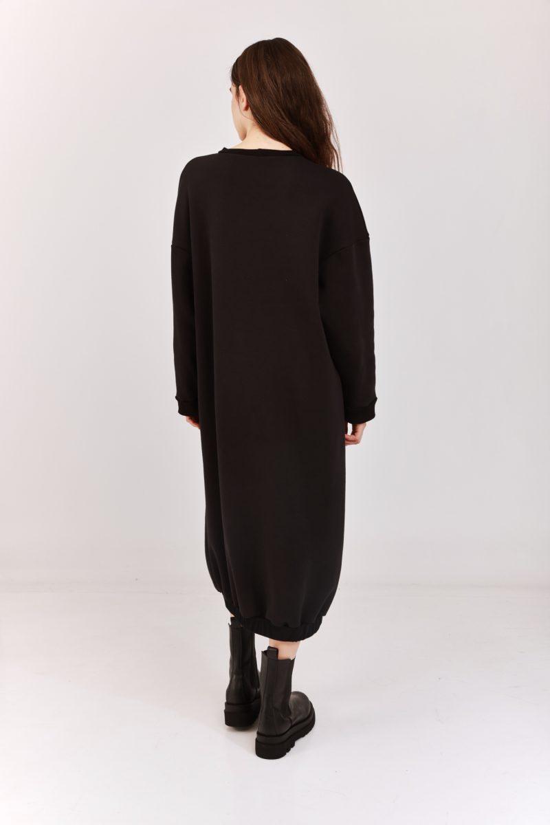 Sweatshirt Galabiya Dress Black